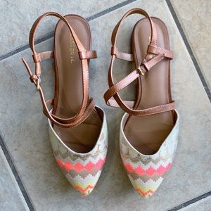 Indigo Shoes - Indigo Rd Brightly Colored Chevron Sandals